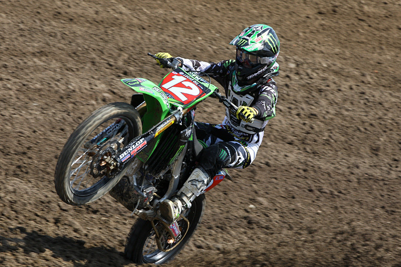 Blake Baggett missed out on much of the second practice with a bike issue.