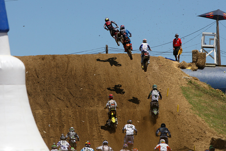 The highlight of the day for Team Honda Muscle Milk's Justin Brayton had to be the first moto holeshot.