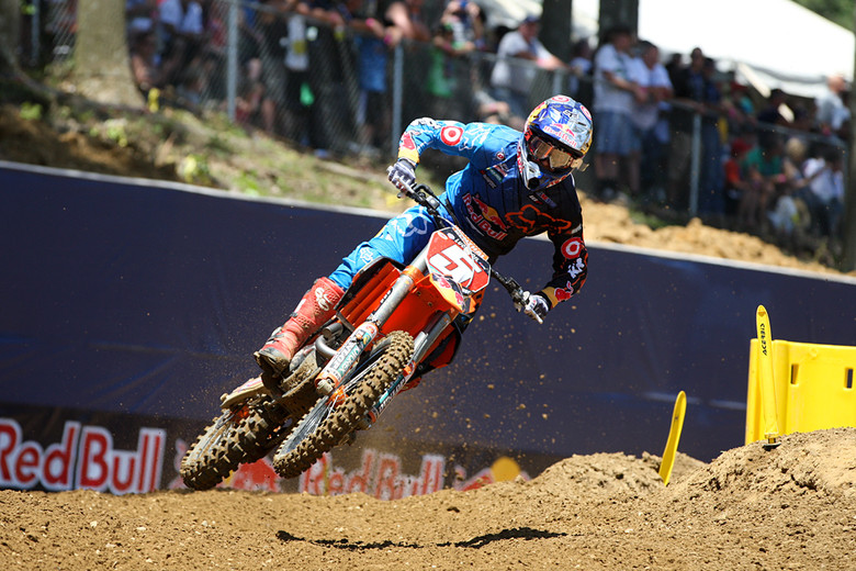 Ryan Dungey led all but three laps of the second 250 moto in Maryland.
