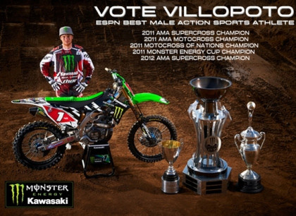 Help Elect Villopoto ESPN's Male Action Sports Athlete of the Year