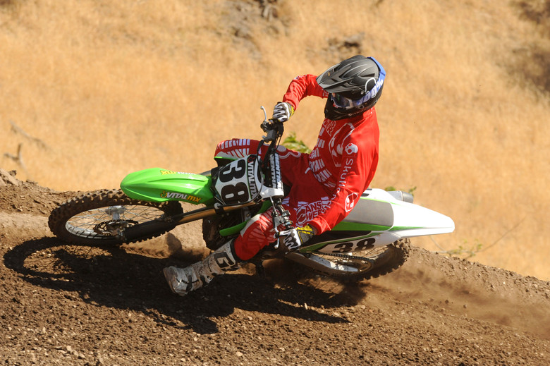 The 2013 KX450F is a very planted machine, making the handling very predictable. Photo Credit - Kinney Jones