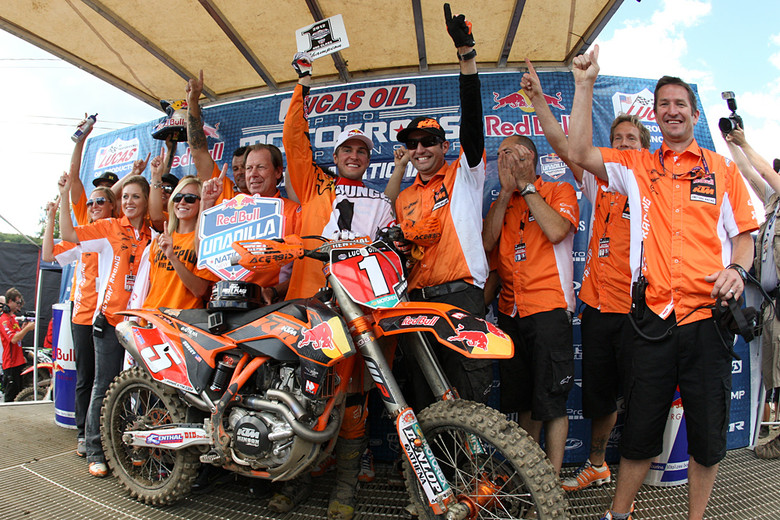 Ryan Dungey Clinches 2012 Lucas Oil Pro 450cc Motocross Championship