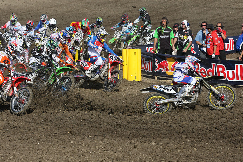 Mike Alessi nails another holeshot. (This one in moto two.)