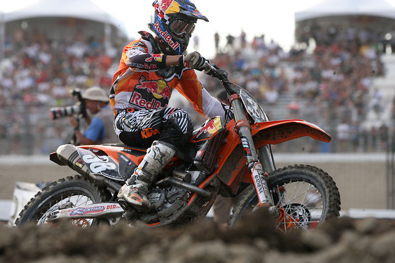 Marvin Musquin was on the podium again. After a tough 2011, he's settled in nicely this year.