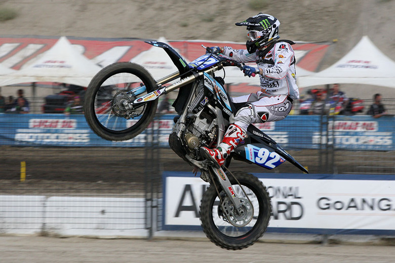 World Champ Chiara Fontanesi took the pair of moto wins at Lake Elsinore, but nearly tossed away a moto win after starting her celebration too soon before the finish line.