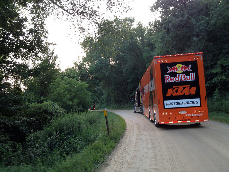 Packed up and heading out after Millville.