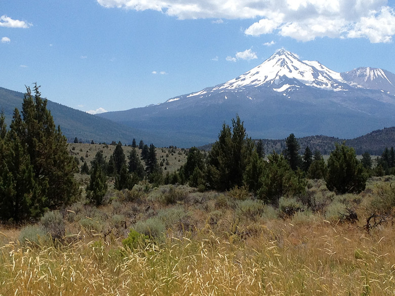 The scenery around the U.S? Awesome. This is Mt. Shasta in Northern California.
