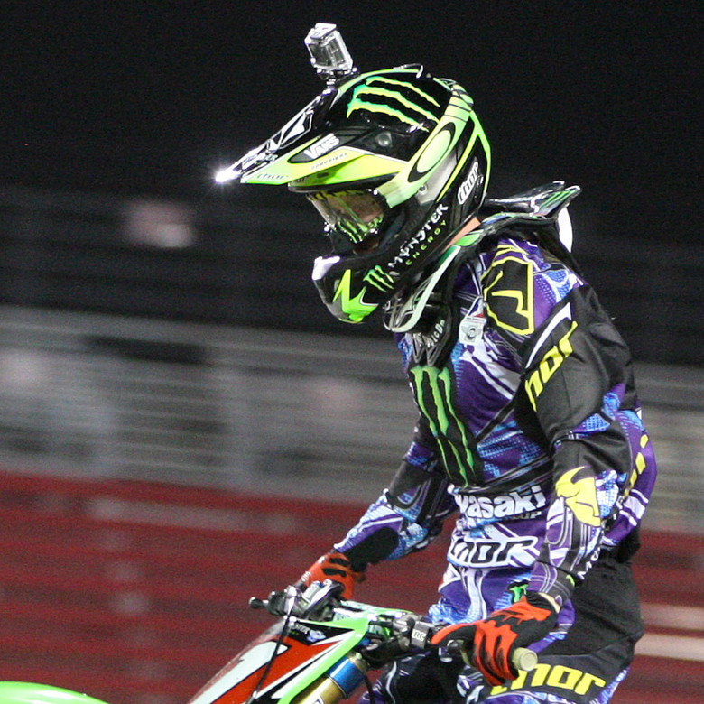 Spy Photos: Ryan Villopoto's Thor Helmet
