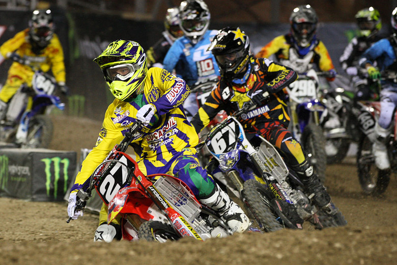 Troy Lee Designs Lucas Oil Honda's Shane McElrath scored the win in the first Amateur All-Stars main event.