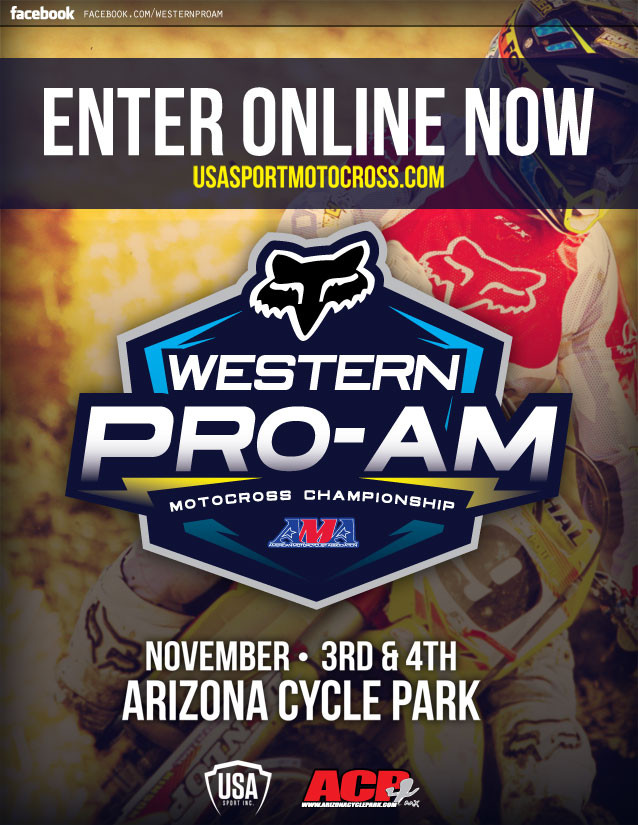 USA Sport Motocross Announces New Title Sponsor with 2012 AMA Western Pro-AM