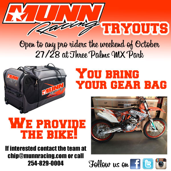 Munn Racing KTM tryouts at Three Palms