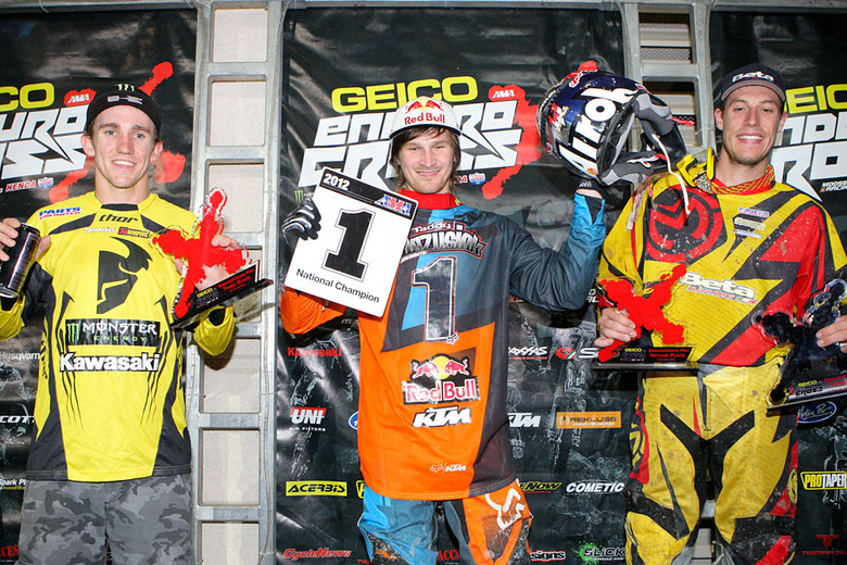 Here's your top three for the season, Taddy Blazusiak, Cody Webb, and Taylor Robert.