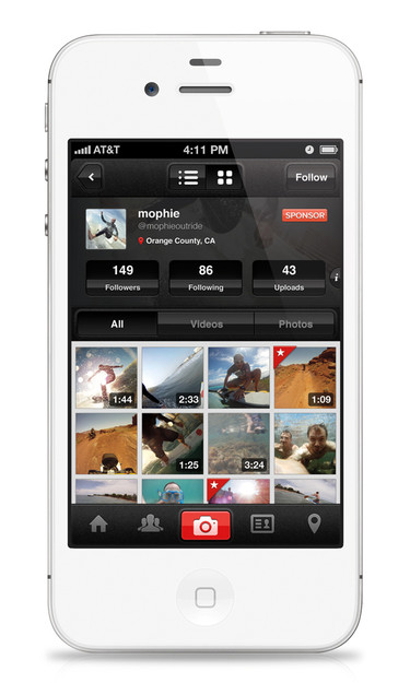 Here's a peek at the OutRide app. Uploads are fast and easy. Like we mention in the story, plan on Wi-Fi for the video uploads so that you achieve best quality.