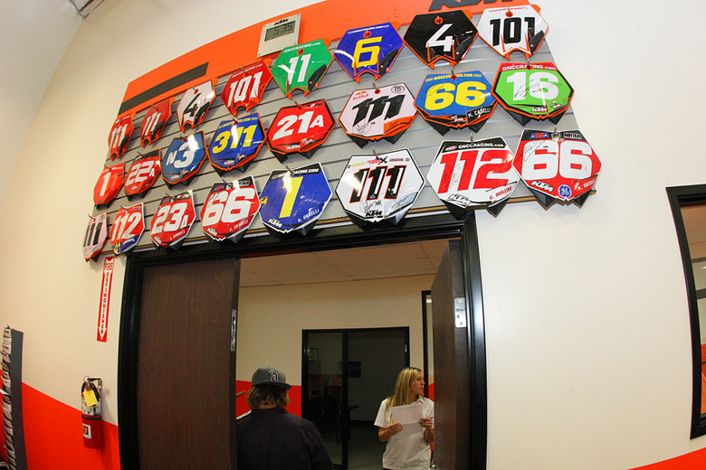 All of KTM's factory race efforts are housed in their Murrieta CA headquarters...even the east coast efforts for GNCC.