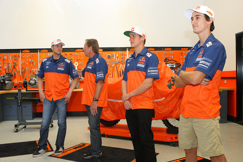 Roger reintroduced all the members of the team. With a rider and lineup that's intact, this part was more of a recap. One area where there is expansion is in hospitality, and the Red Bull/KTM team (and a few others) will have more rigs on the road this year to handle that.