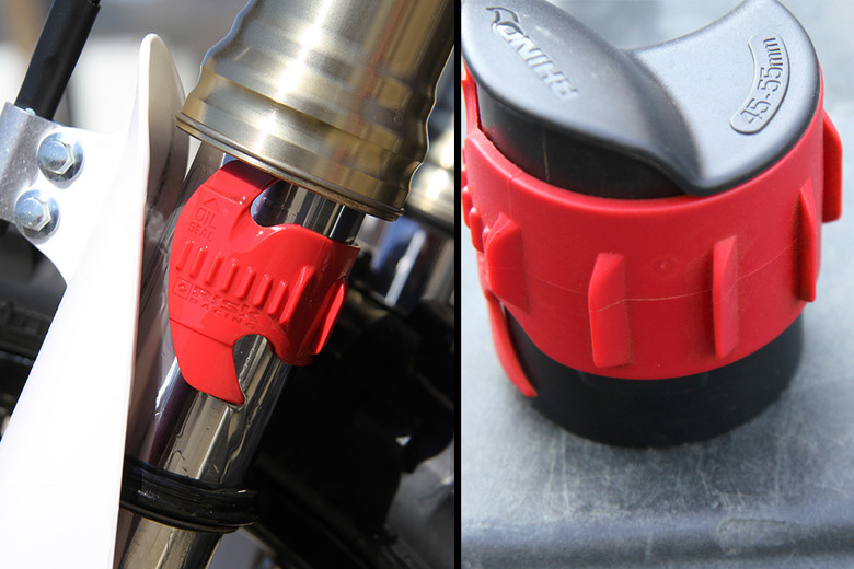 A little fork oil leakage while using the Seal Doctor can be expected. However, thanks to the directional teeth, even super slick fork oil won't stop you from getting the job done.