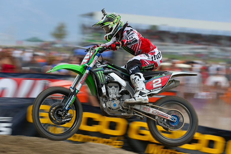 Ryan Villopoto (Monster Energy Kawasaki) was set to full kill for the Built Ford Tough Utah National. He scored another 1-1 day, which was enough to wrap up yet another 450 crown.
