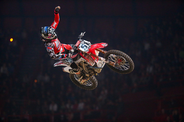 Justin Barcia (Team Honda Muscle Milk) finished second on Sunday night, but still claimed the King of Bercy crown.