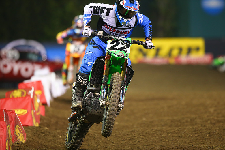 Chad Reed (TwoTwo Motorsports) ran as high as second, but ended up in third spot.