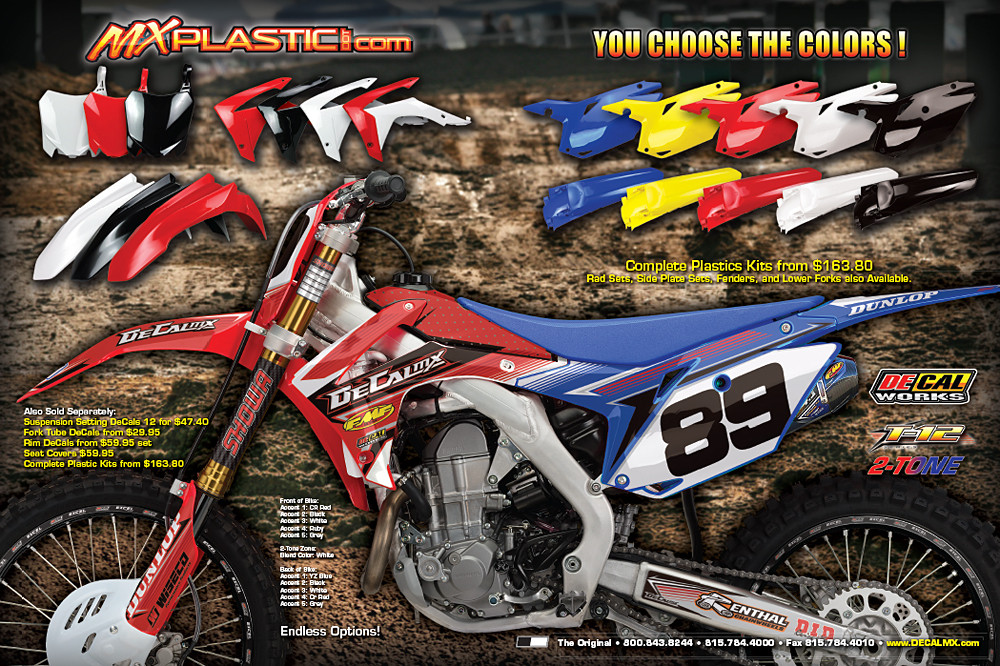 DeCal Works Tone CRF Graphics  Plastics Motocross Feature - Decal works graphics
