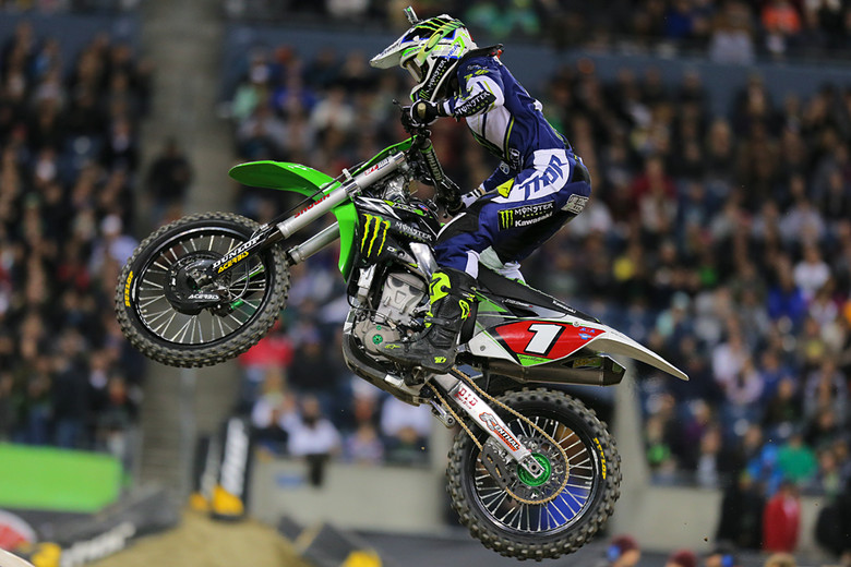 Ryan Villopoto was on it in Seattle. This was his fifth win of the season, and with a 48-point lead over James Stewart, it looks highly likely that he'll wrap up his fourth straight Supercross title at the Meadowlands in two weeks.