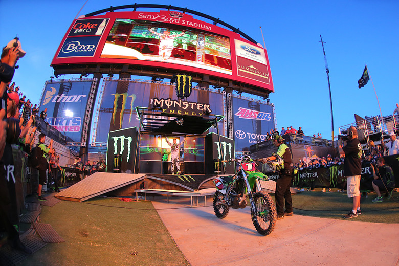 With the title wrapped up, this race could have been a walk-through for Ryan Villopoto (Monster Energy Kawasaki). But he approached it like any other...set to full kill.