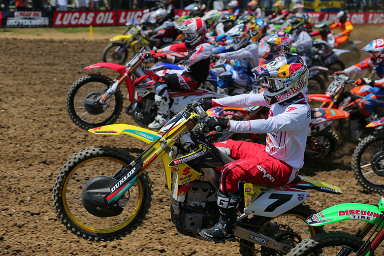 James Stewart (Yoshimura Suzuki Factory Racing) was on another level this weekend, grabbing the lead in each moto and staying comfortably out front for a 50-point day.