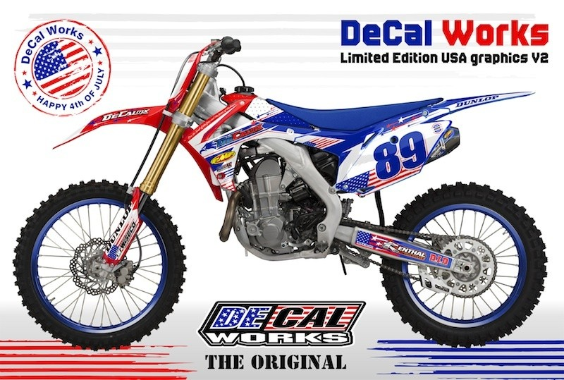 DeCal Works Announces Limited Edition USA Graphics Motocross - Decal graphics