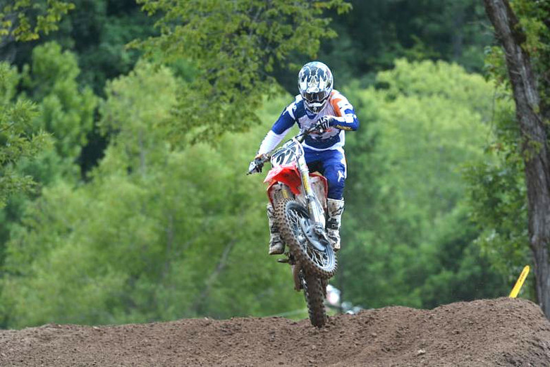RJ Hampshire is the man to beat in the A classes after the first set of motos Photo: Ken Hill / MX Sports