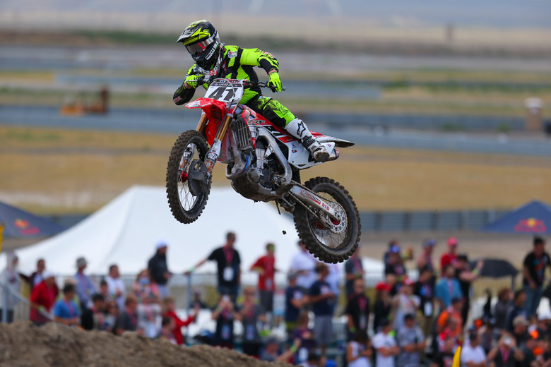 Trey Canard was too much for the 450 field in Utah, and swept both motos, and grabbed his first 450 overall. After a few rough years of injuries, that's a huge win to take into the off-season and 2015. There's little rest for him or the team, though...he said testing starts next Tuesday.