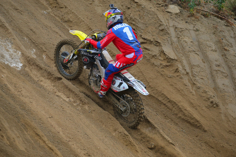 Yep, Ken Roczen is looking much better than last week. He was on top of the 450 time sheet.