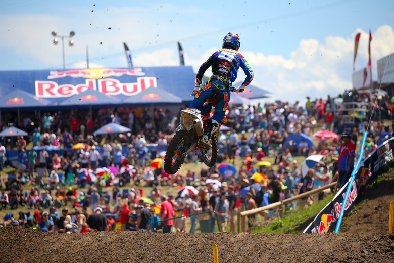 Ryan Dungey left Thunder Valley with an overall win, and the points lead. Eli Tomac won the first moto, but crashed out of moto two and suffered a dislocated shoulder. Ryan passed Ken Roczen in both motos to end the day with 2-1 moto finishes.