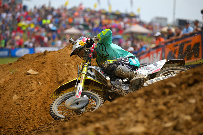 Ken Roczen traded moto wins with Ryan Dungey, and scored the overall with a triumph in moto two.