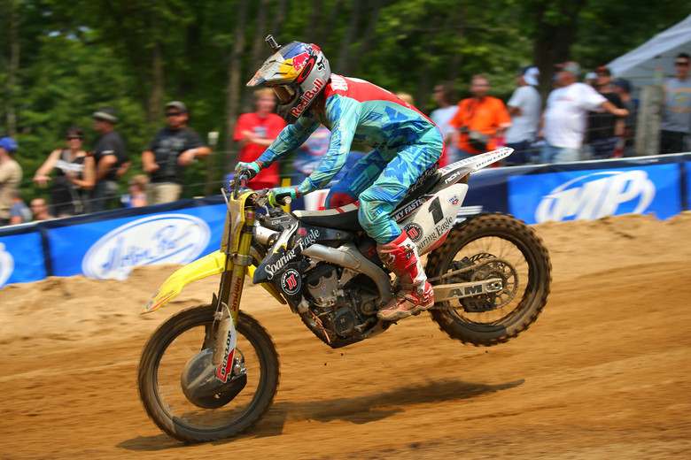 Ken Roczen scored a pair of third-place finishes, and grabbed third overall.
