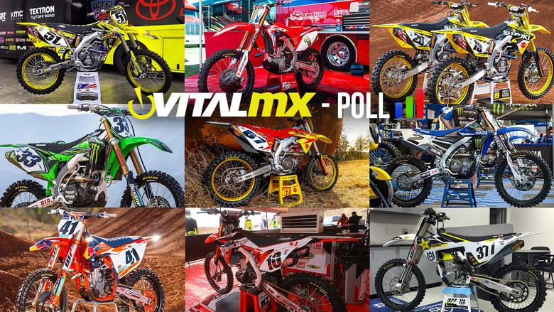 Vital MX Poll: Bikes of Supercross 2017 Sneak Peek - 450s