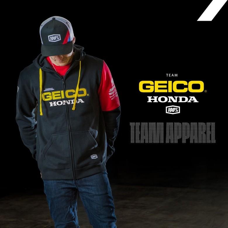 100% Introduces GEICO Honda Licensed Apparel