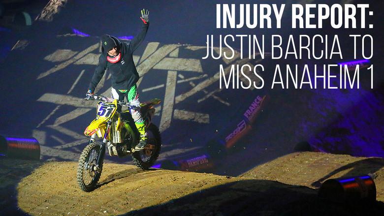 Injury Report: Justin Barcia Injures Wrist - Will Miss Anaheim 1