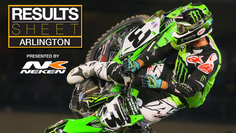Results Sheet: Arlington Supercross