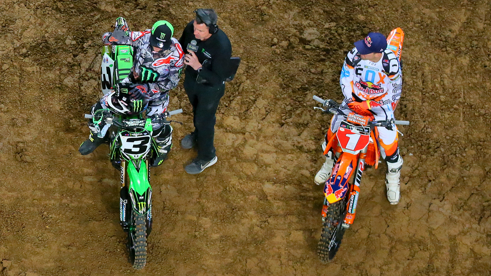 Eli Tomac and Ryan Dungey, are now down to what's basically a three-race shootout for the 2017 Monster Energy Supercross title.