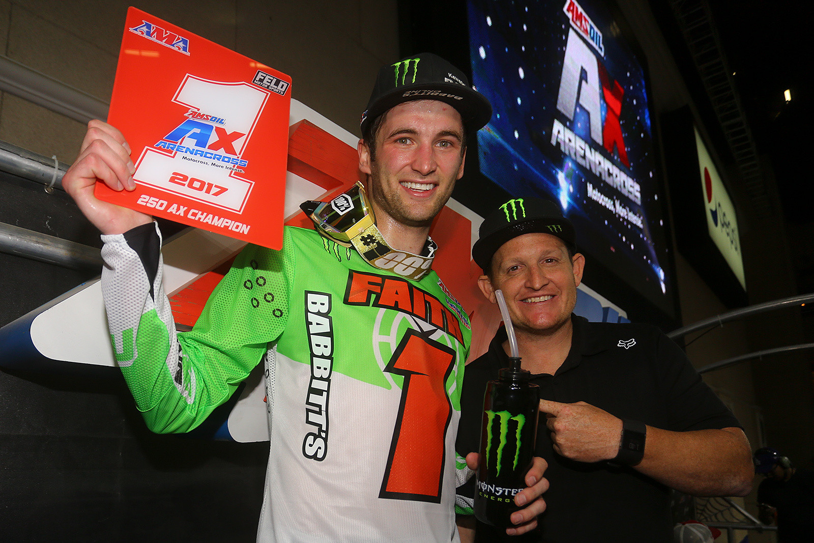 Gavin Faith took home the Ricky Carmichael Cup again, for winning his second straight Arenacross title.