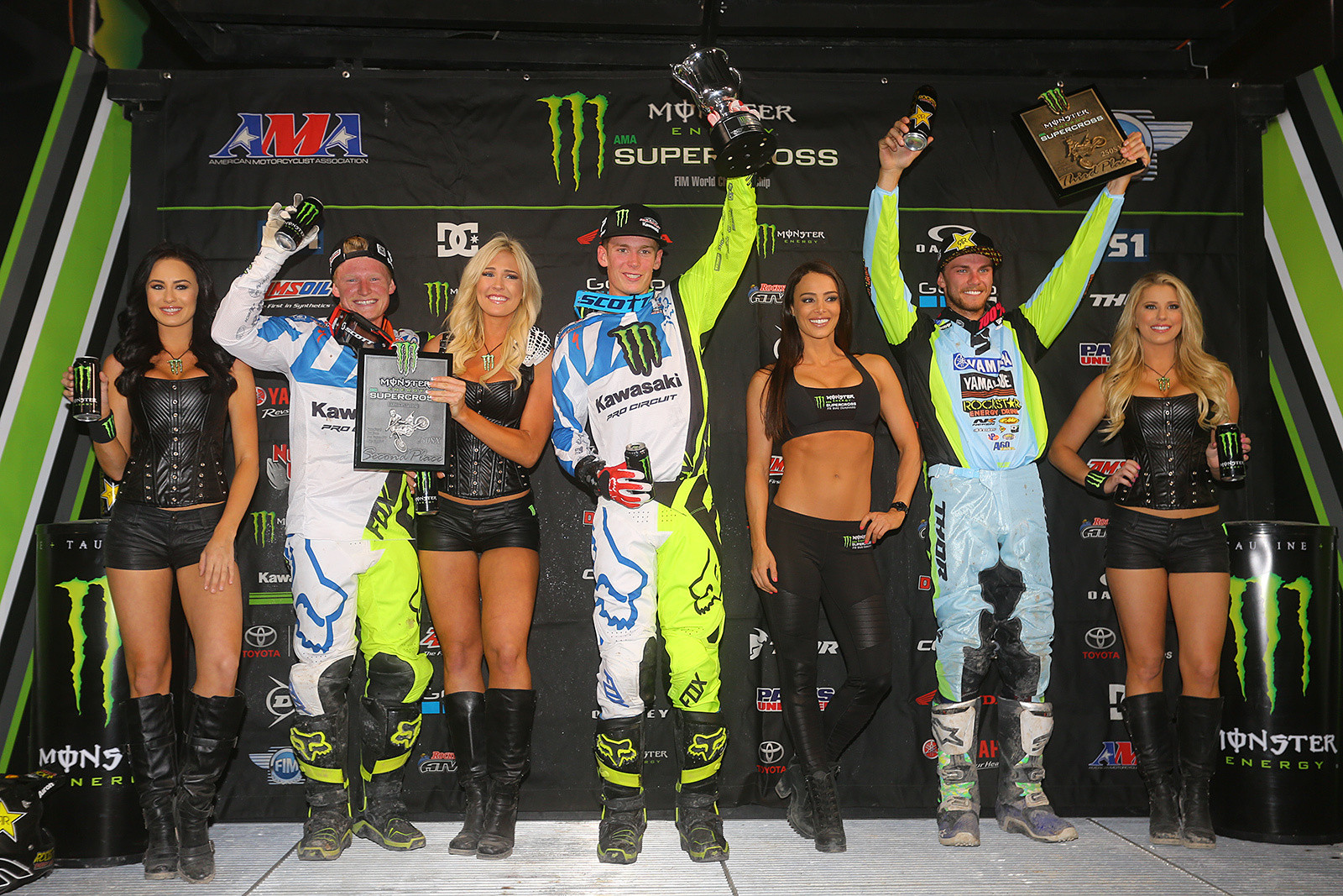 Here's your top three 250s on the night, with Adam Cianciarulo, Justin Hill, and Aaron Plessinger.
