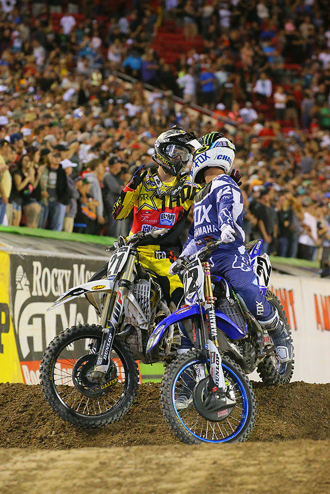 Post-race with Jason Anderson and Chad Reed. This would have been an interesting conversation to listen in on.