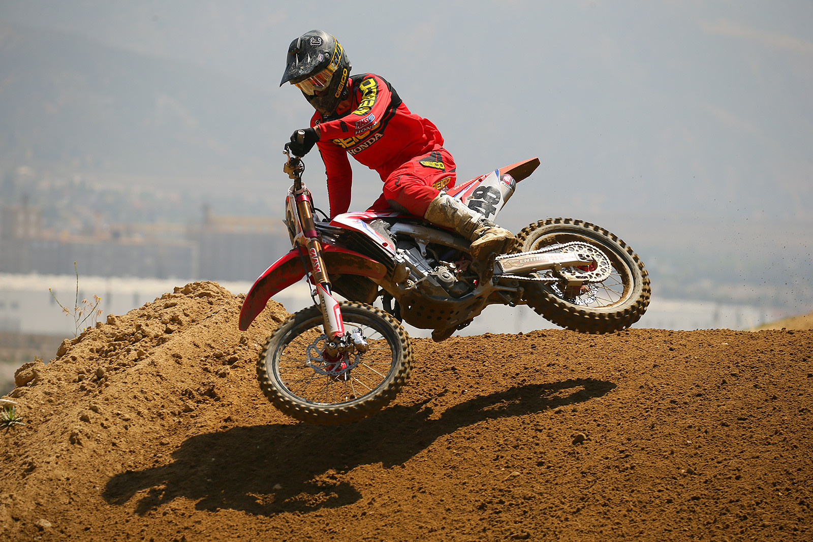 Christian Craig will spend the summer under the Honda tent aboard a 450.