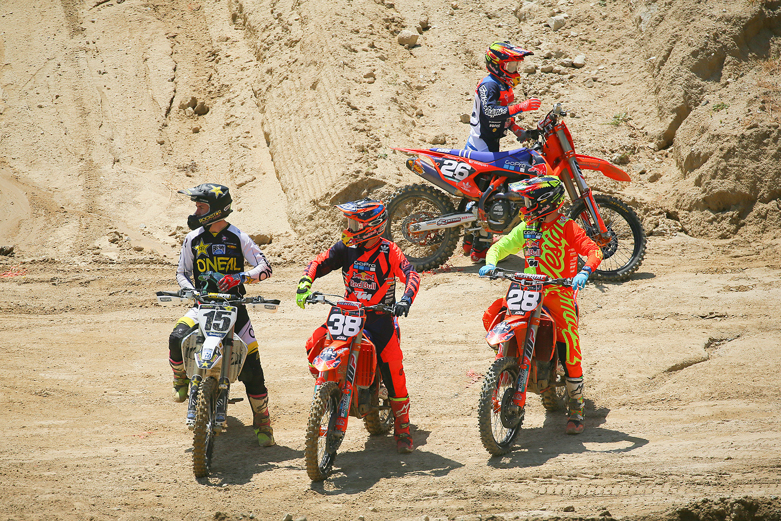 The Troy Lee Designs/Red Bull/KTM crew (minus Jordon Smith), and Dean Wilson.