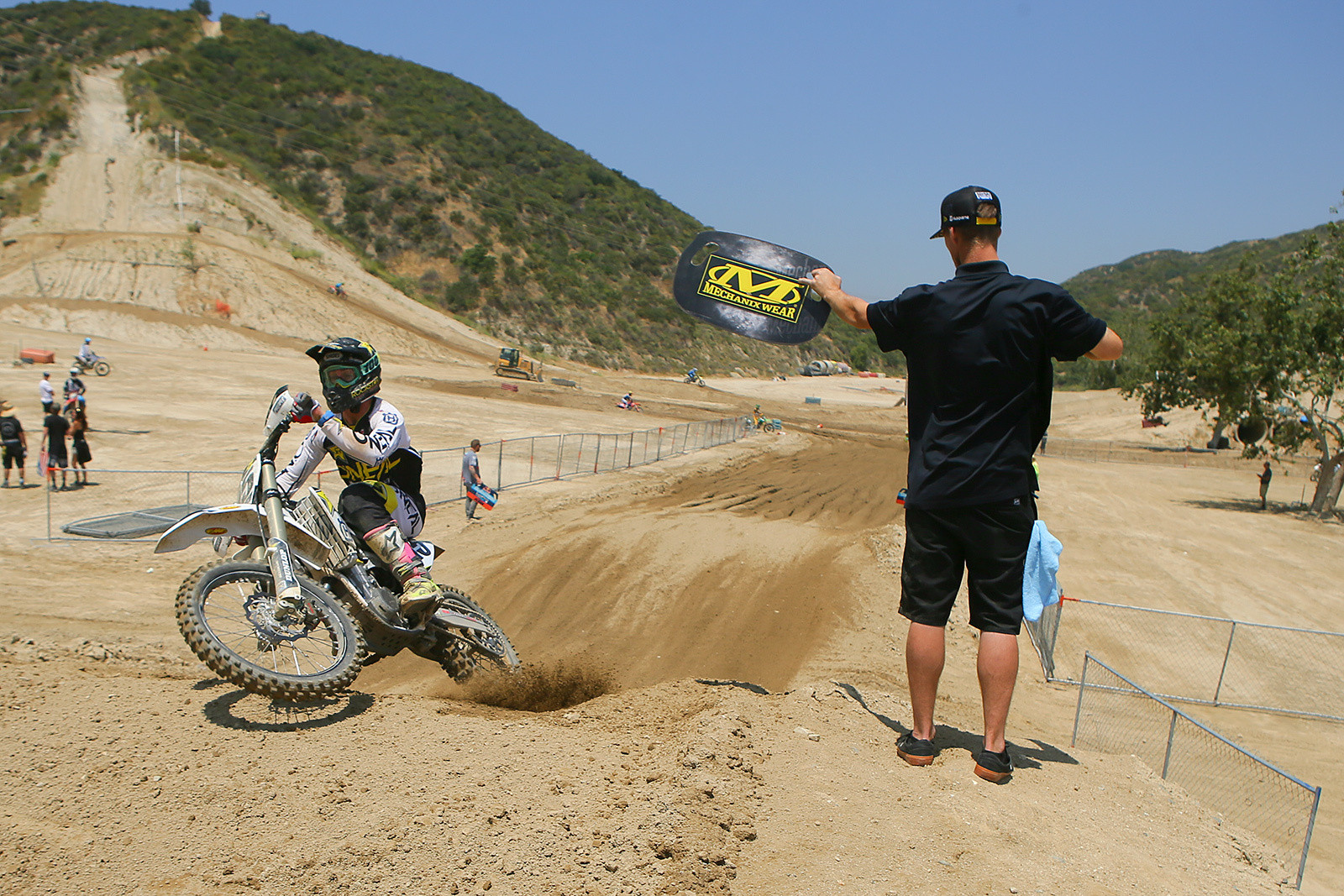 Dean Wilson showing some serious speed to Daniel Castloo...or was it the other way around?