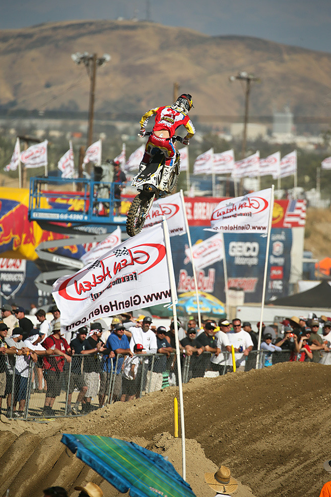 Jason Anderson finished second overall at Glen Helen with a 5-1 score. Maybe even better is that he's not seeing any issues from catching the rock at Hangtown that cut him over his left eye.