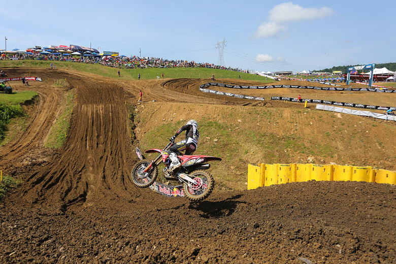 Jeremy Martin is still trying to claw his way back up to Zach Osborne in the points. He was fourth in qualifying.