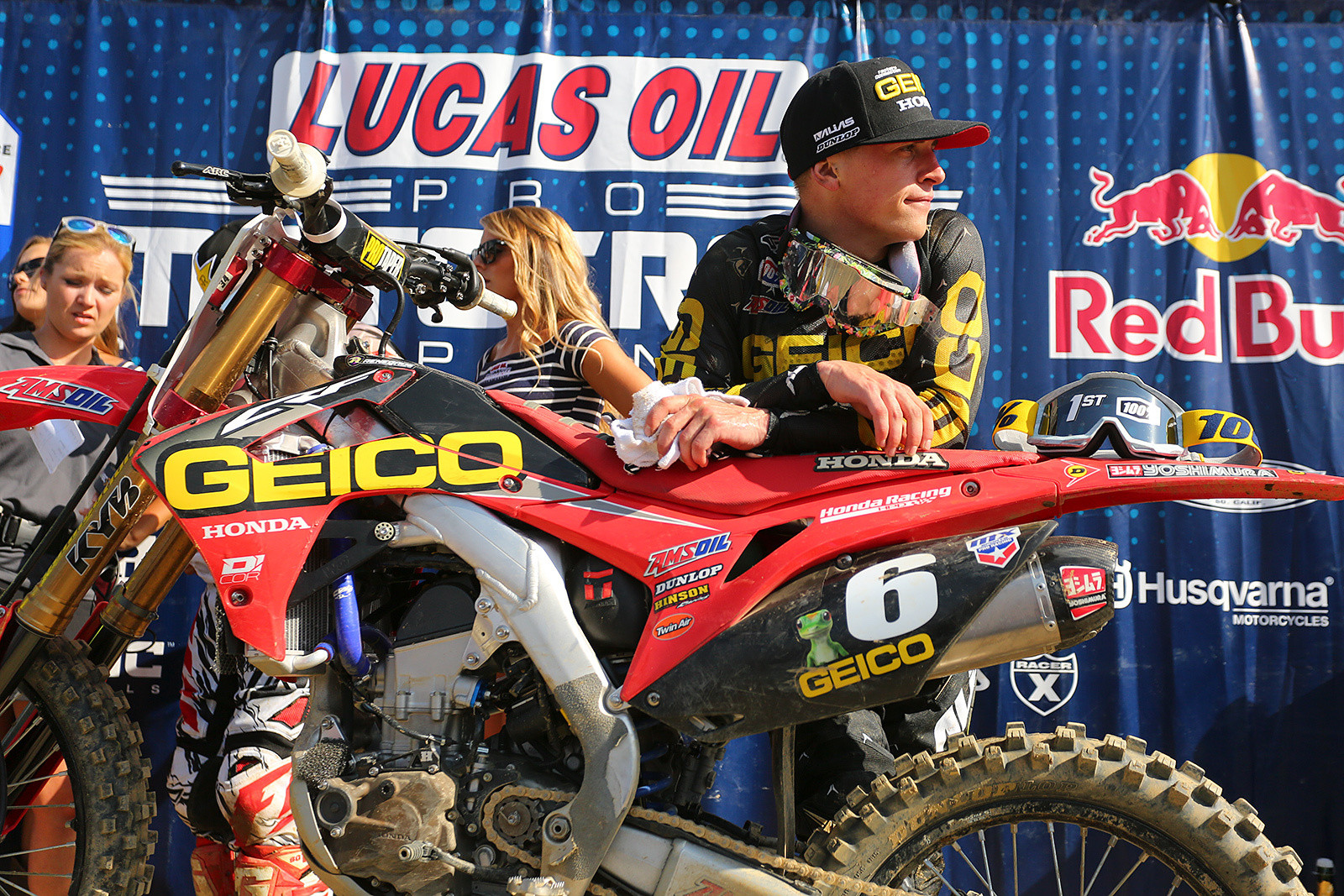 Jeremy Martin was looking pretty pleased with his first win with GEICO Honda.