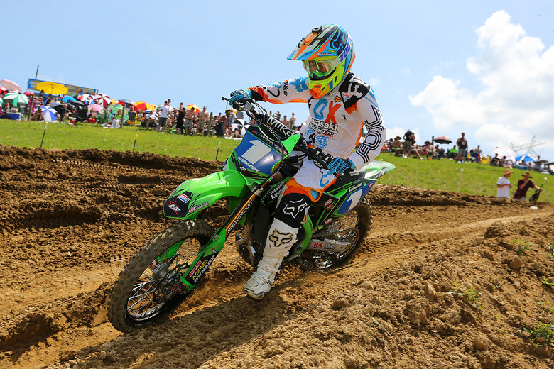 Kylie Fasnacht scored the first moto win.