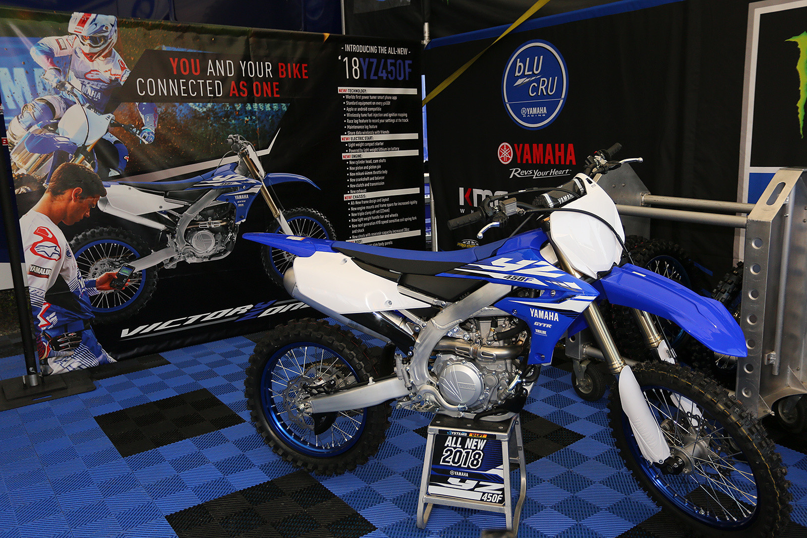 Yamaha had one of the 2018 YZ450Fs filling up the portion of their pit area where Chad Reed's pit was earlier this year. When will Cooper Webb be on one of the new bikes? As soon as they can get an adequate number of the bikes into warehouses here, and the bike is homologated.